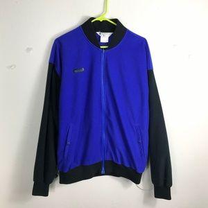 Mens Large Columbia Purple Black Fleece Jacket